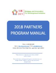 SI4DEV Initiative Partners Program Manual